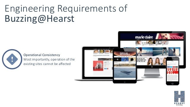 Engineering Requirements of Buzzing@Hearst Operational Consistency Most importantly, operation of the existing sites canno...