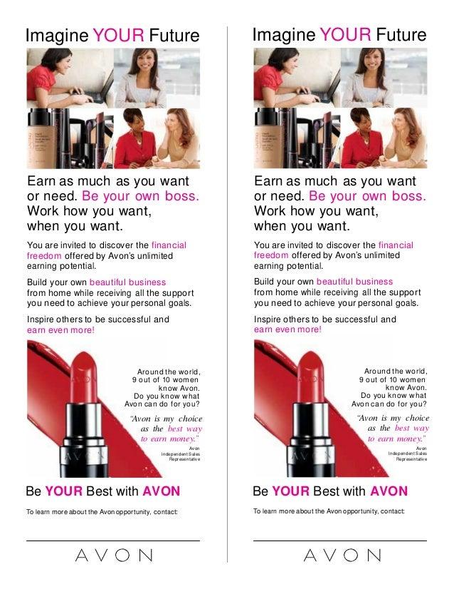 Printable Brochure Templates Avon Flyers Yourweek 5