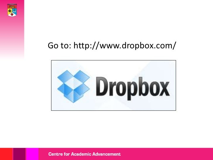 Getting started with dropbox Slide 3