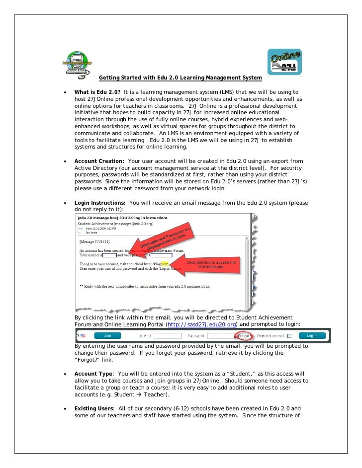 Getting Started with Edu 2.0 Learning Management System  •   What is Edu 2.0? It is a learning management system (LMS) tha...