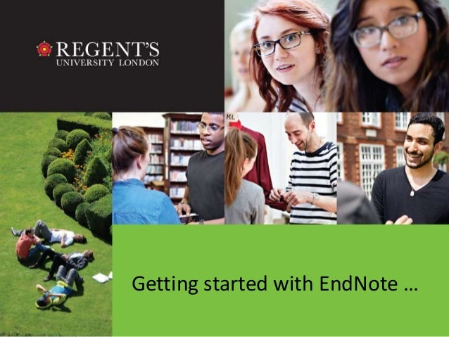 Getting started with EndNote …