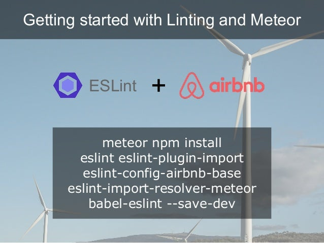 ESLINT CONFIG AIRBNB BASE - Automate refactoring with