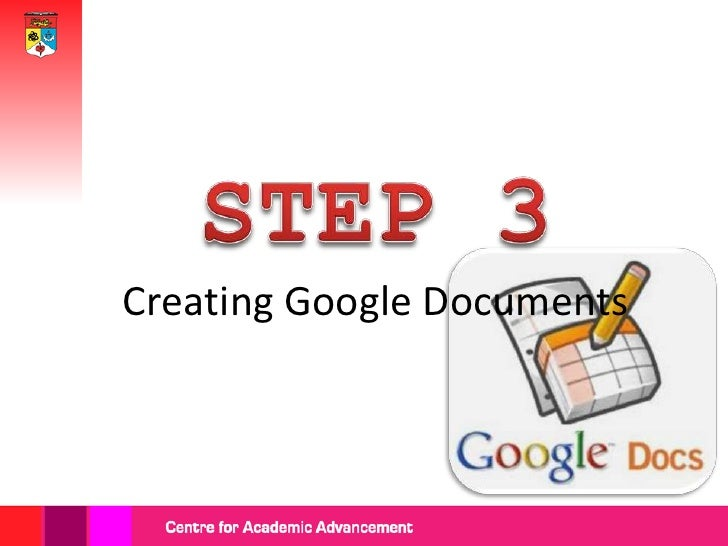 Click 'CREATE'  button and  choose any  type of thedocuments to            After creating astart creating.       Google ac...