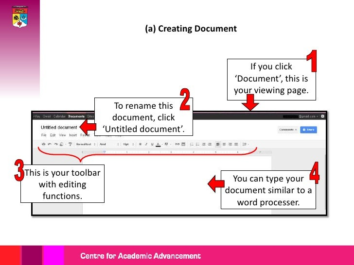 (b) Creating Presentation   This is the presentation                          If you click   toolbar with the editing     ...