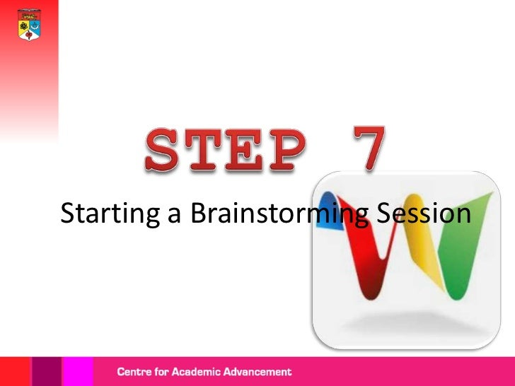 Click the          'Brainstorm'              icon.Preview