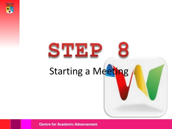 Click the'Meeting'   icon'.             Preview
