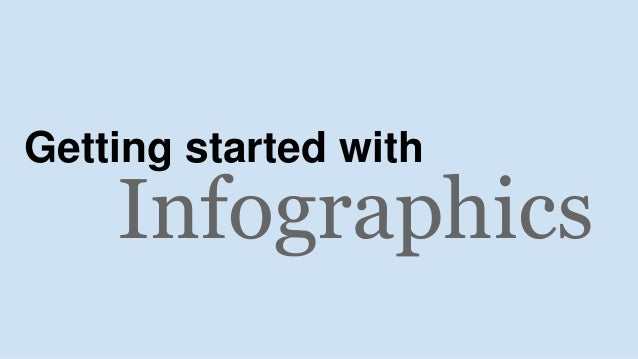 Infographics Getting started with