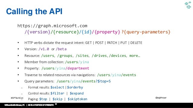 Getting Started with Microsoft Graph API SPTechCon Washington DC 2017