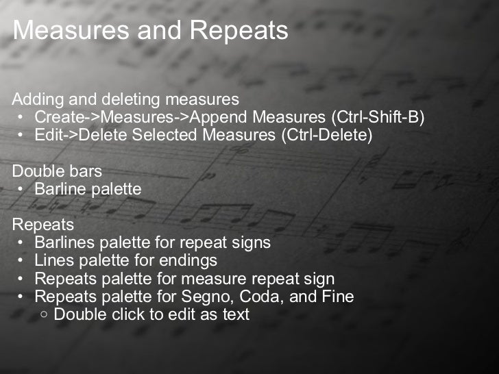 musescore multi measure repeat