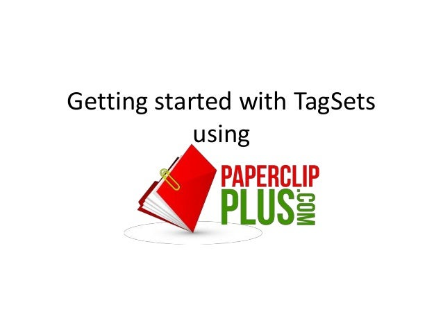 Getting started with TagSets            using