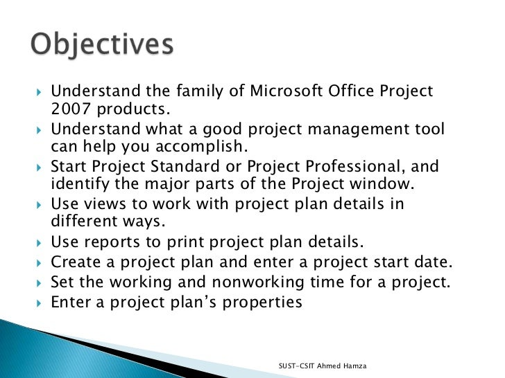 Getting started with project Slide 2