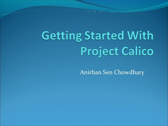 Getting started with project calico