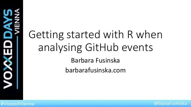 Getting started with R when analysing GitHub commits