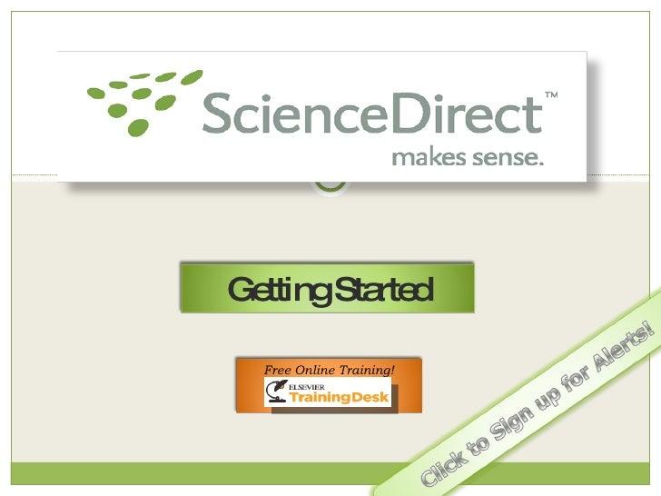 sciencedirect started getting slideshare
