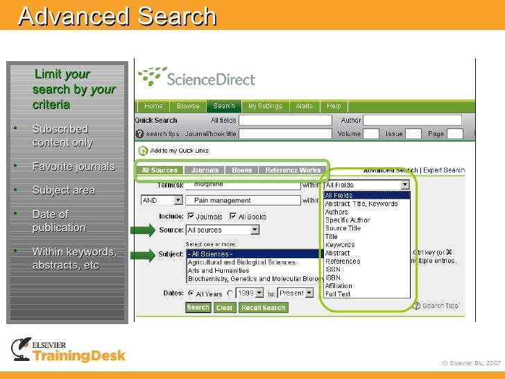 Advanced Search      Limit your     search by your     criteria    Subscribed     content only     Favorite journals    ...