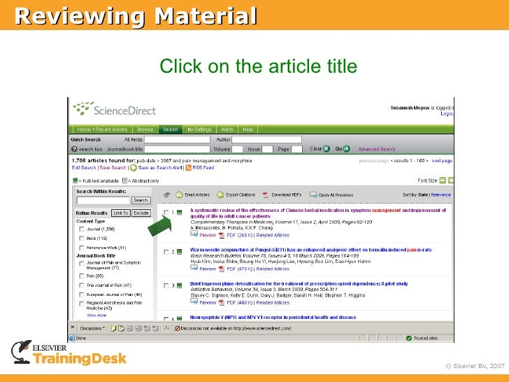 Reviewing Material            Click on the article title