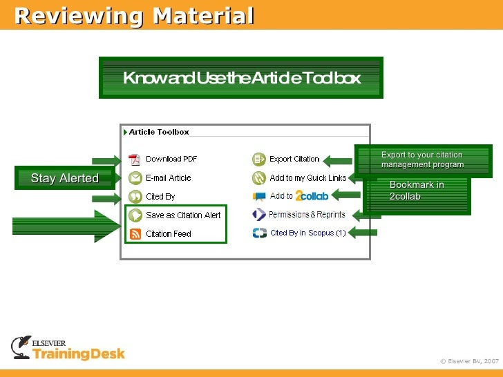 Reviewing Material                  Know and Use the Article Toolbox                                                      ...
