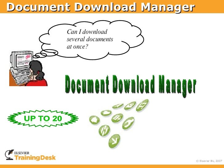 Document Download Manager          Can I download         several documents         at once?