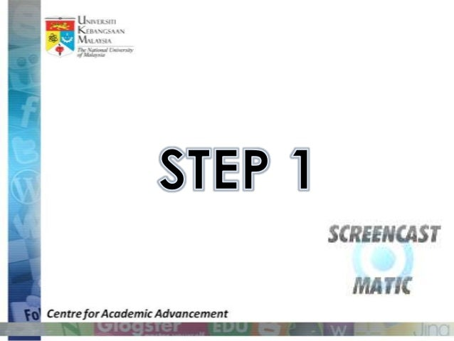 Getting started with screencastomatic Slide 2