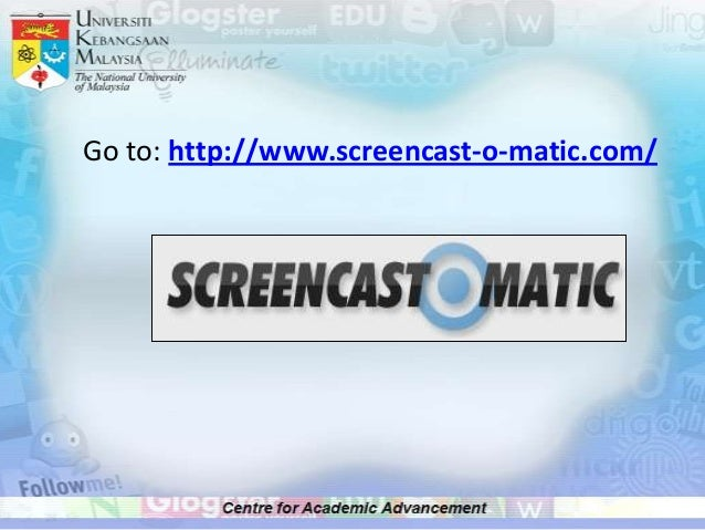 Getting started with screencastomatic Slide 3