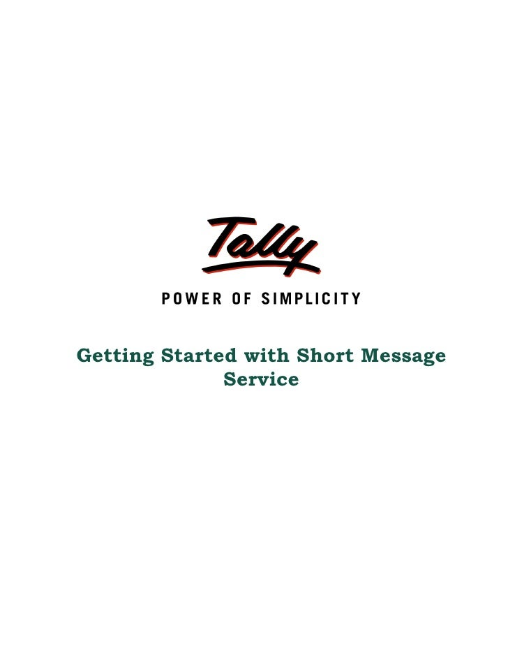 Getting Started with Short Message              Service