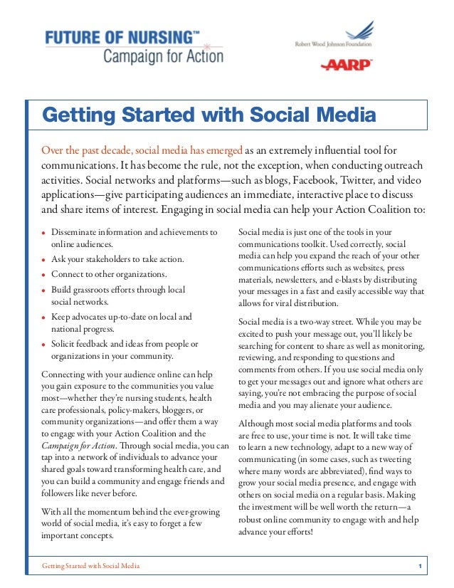 Getting Started with Social Media 1Getting Started with Social MediaOver the past decade, social media has emerged as an ...