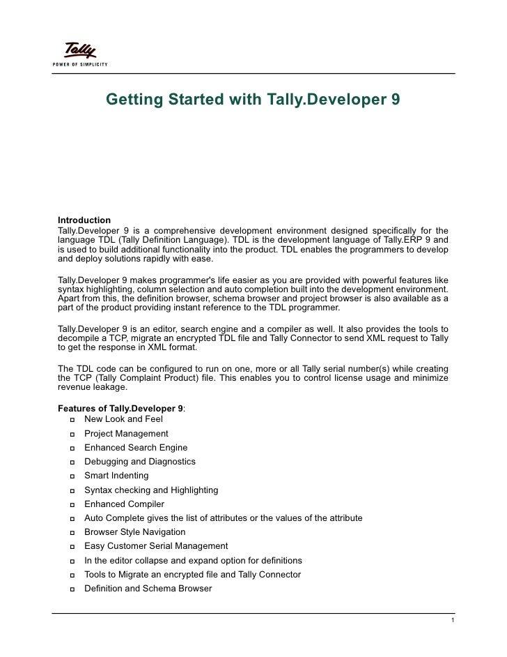 Getting startedwithtallydeveloper9   Tally Synchronisation