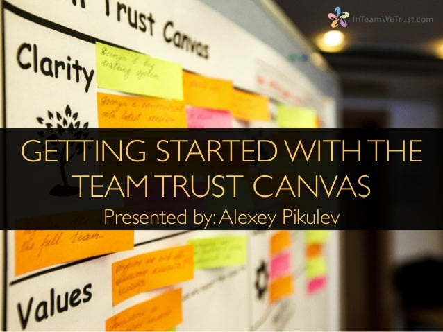 GETTING STARTED WITHTHE TEAMTRUST CANVAS	  Presented by:Alexey Pikulev