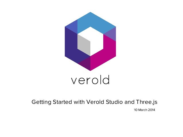 Getting started with Verold and Three js