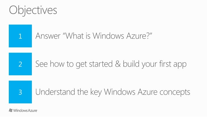 Getting Started with Windows Azure Slide 2