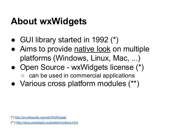 Getting started with wxWidgets