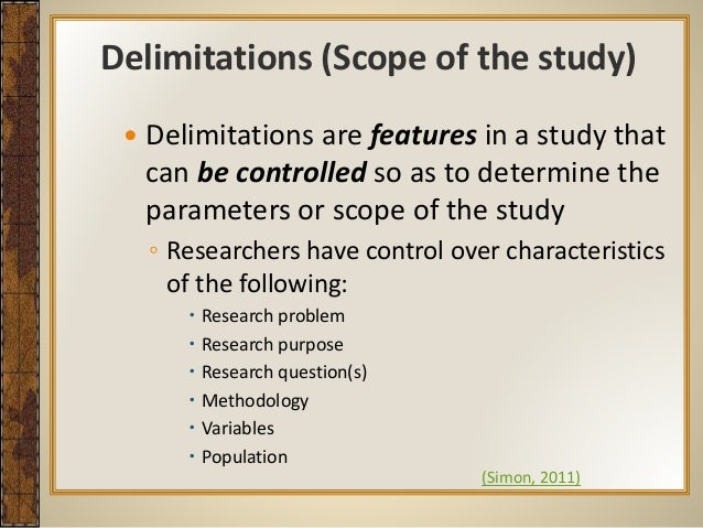 what are delimitations in a dissertation This dissertation is brought to you for free and open access by the graduate college at iowa state university case study limitations and delimitations.