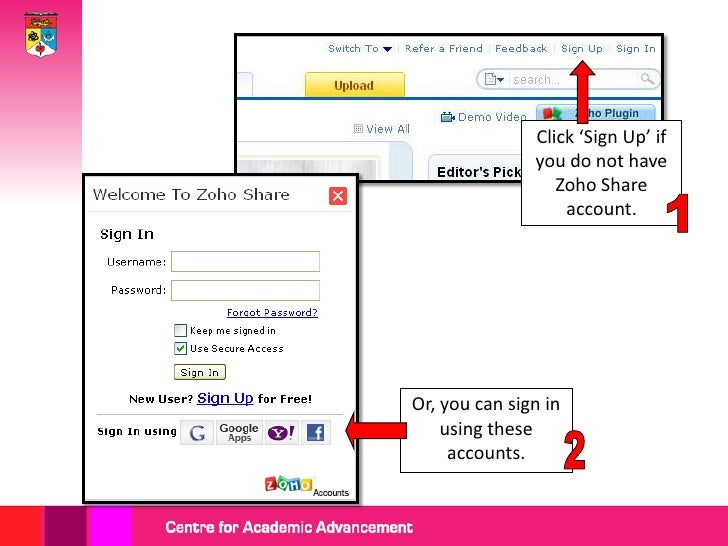 To create anaccount, fill in the     required  information.                       Then, click the                       'S...