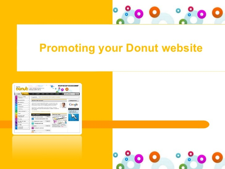 Promoting your Donut website