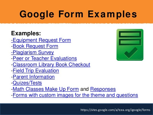 google form examples