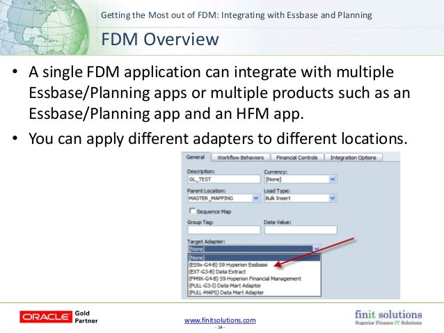 Fdm Essbase adapter Manual