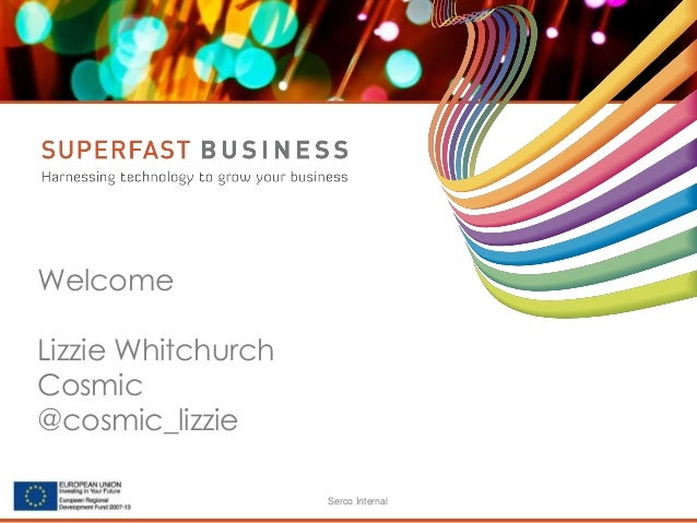 Serco Internal Welcome Lizzie Whitchurch Cosmic @cosmic_lizzie