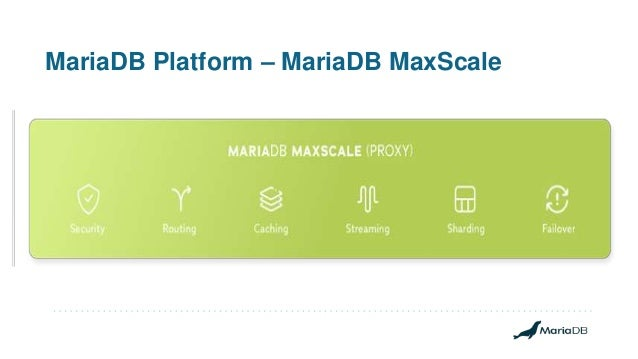 MariaDB Platform – MariaDB MaxScale