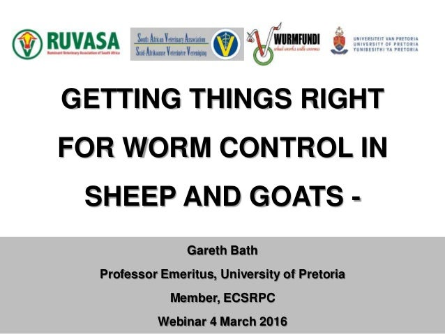 Getting things right for worm control