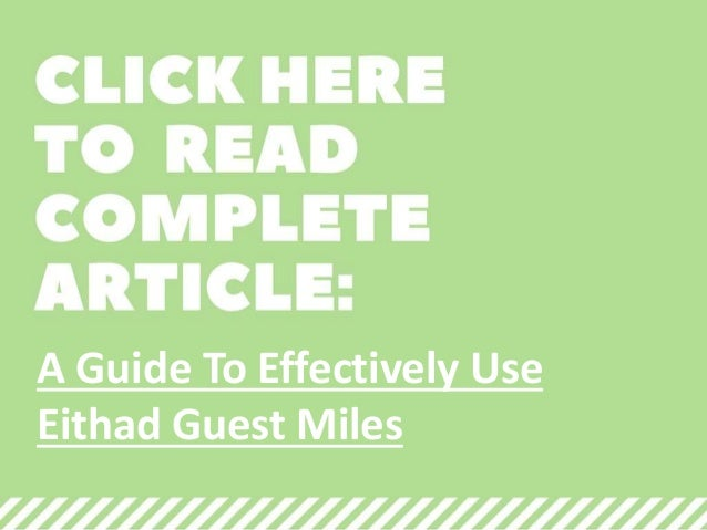 A Comprehensive Guide: Getting to Know Etihad Guest