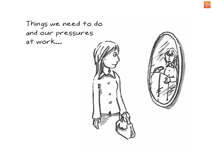 Things we need to do and our pressures at work...