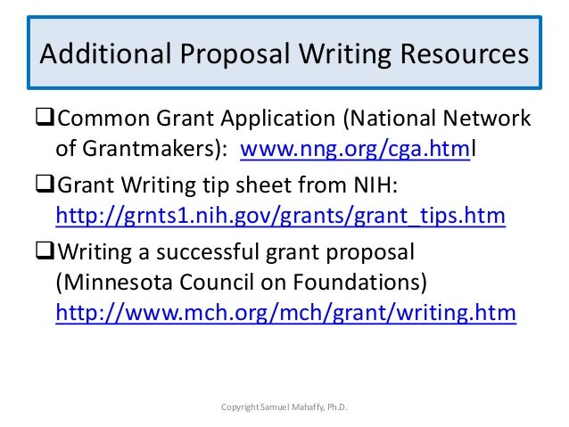 writing grant proposals with the funder Grant proposal for its use the minnesota common grant application form if the funder you are approaching accepts writing a successful grant proposal.