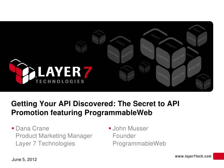 Getting Your API Discovered: The Secret to APIPromotion featuring ProgrammableWeb Dana Crane                   John Muss...