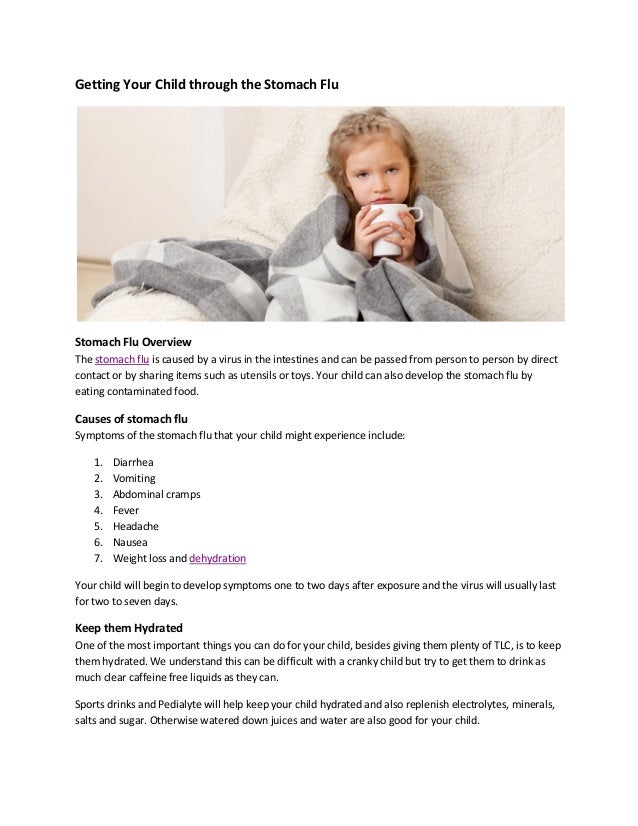 Getting your child through the stomach flu