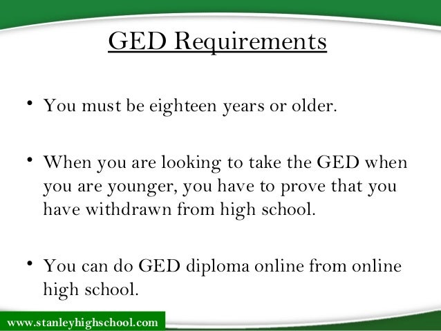 Get Your Ged Online >> Getting Your Ged Ged Requirements