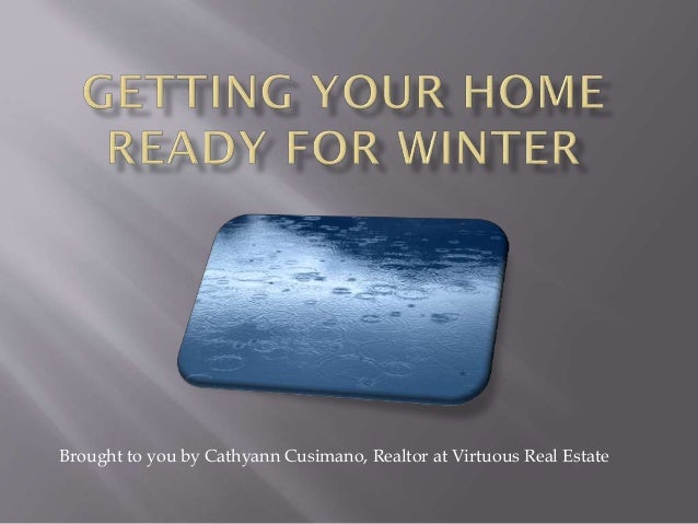 Brought to you by Cathyann Cusimano, Realtor at Virtuous Real Estate