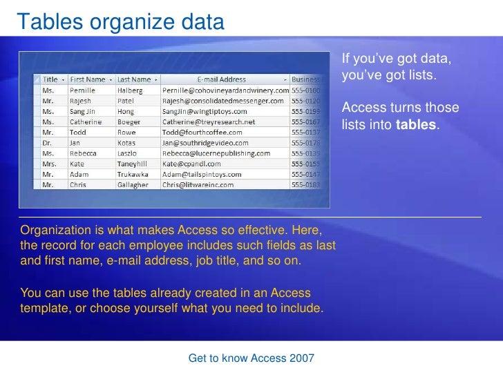 access 2007 template
