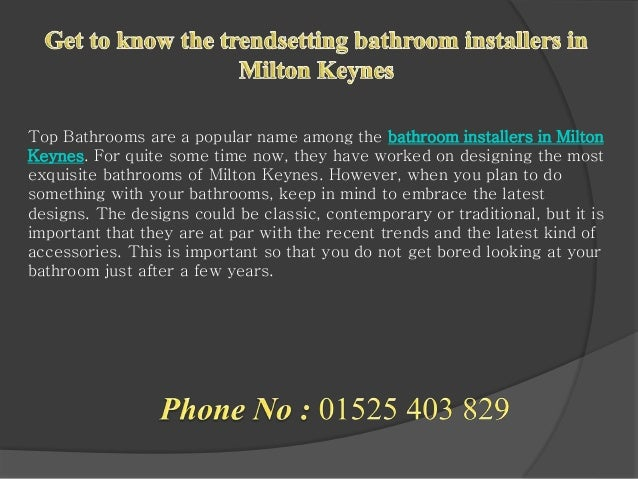 3. Get to know the trendsetting bathroom installers in Milton Keynes