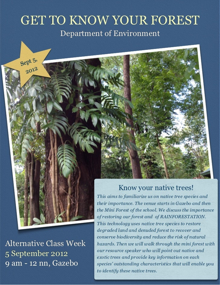 GET TO KNOW YOUR FOREST               Department of Environment        t 5,    Sep           2      201                   ...