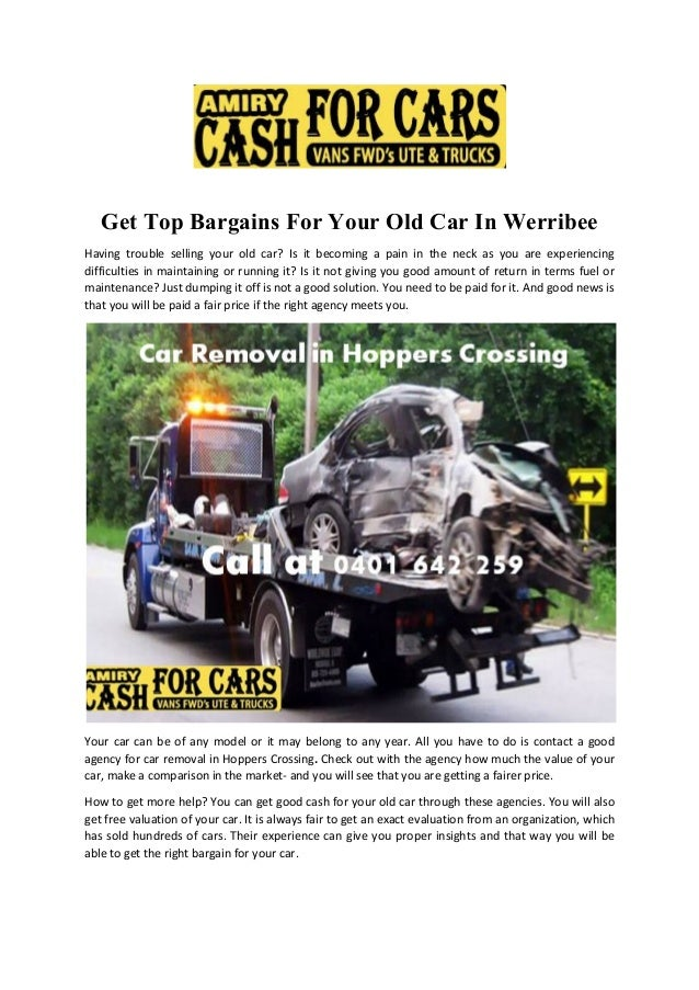 Get Top Bargains For Your Old Car In Werribee